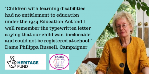 A quote from Dame Philippa Russell