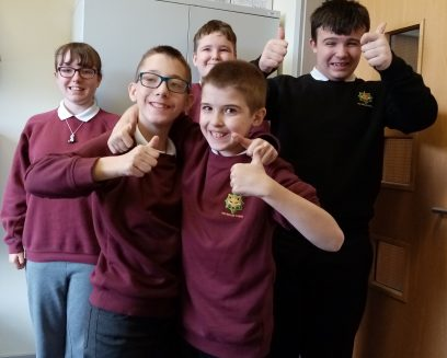 students from Fox Hollies school