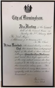 a notice from Birmingham City Council