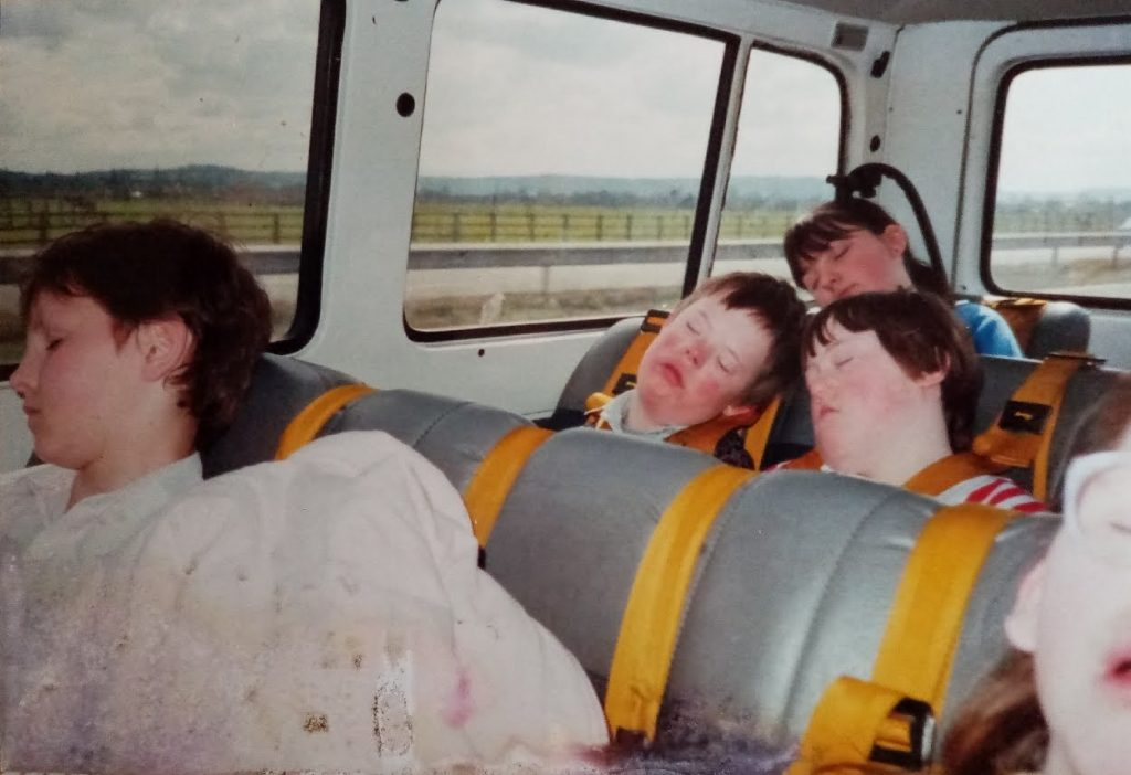 tired students after a day trip